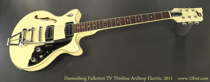 Duesenberg Fullerton TV Thinline Archtop Electric, 2011 Full Front View