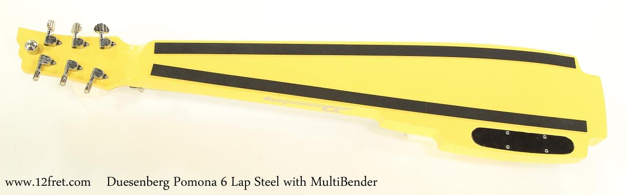 Duesenberg Pomona 6 Lap Steel with MultiBender   Full Rear View