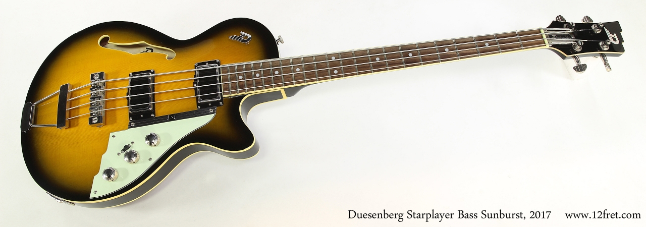 Duesenberg Starplayer Bass Sunburst, 2017  Full Front View