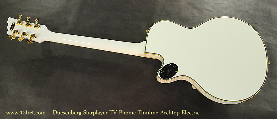 Duesenberg Starplayer TV Phonic Thinline Archtop Electric Full Rear View