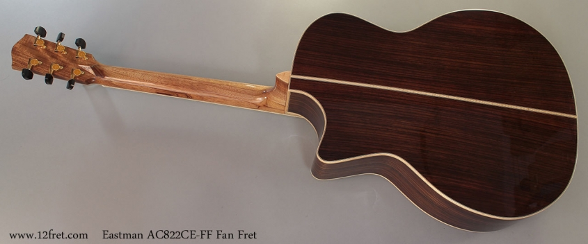 Eastman AC822CE-FF Fan Fret Full Rear View