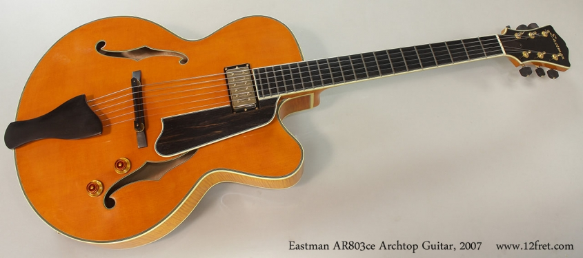 Eastman AR803ce Archtop Guitar, 2007 Full Front View