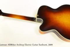 Eastman AR803ce Archtop Electric Guitar Sunburst, 2009 Full Rear View