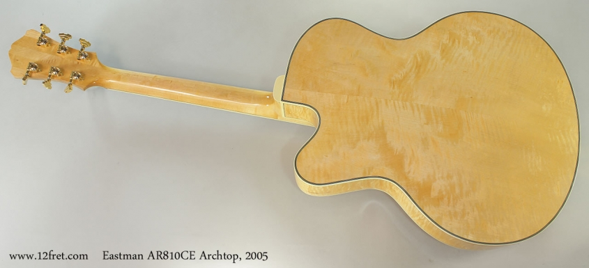 Eastman AR810CE Archtop, 2005 Full Rear View