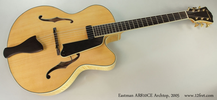 Eastman AR810CE Archtop, 2005 Full Front View