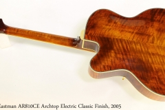 Eastman AR810CE Archtop Electric Classic Finish, 2005 Full Rear View