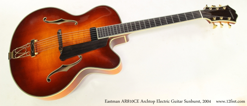 Eastman AR810CE Archtop Electric Guitar Sunburst, 2004   Full Front View