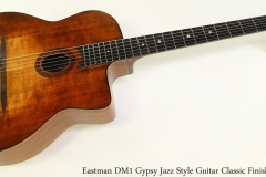 Eastman DM1 Gypsy Jazz Style Guitar Classic Finish Full Front View