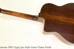 Eastman DM1 Gypsy Jazz Style Guitar Classic Finish Full Rear View