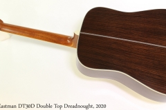 Eastman DT30D Double Top Dreadnought, 2020 Full Rear View