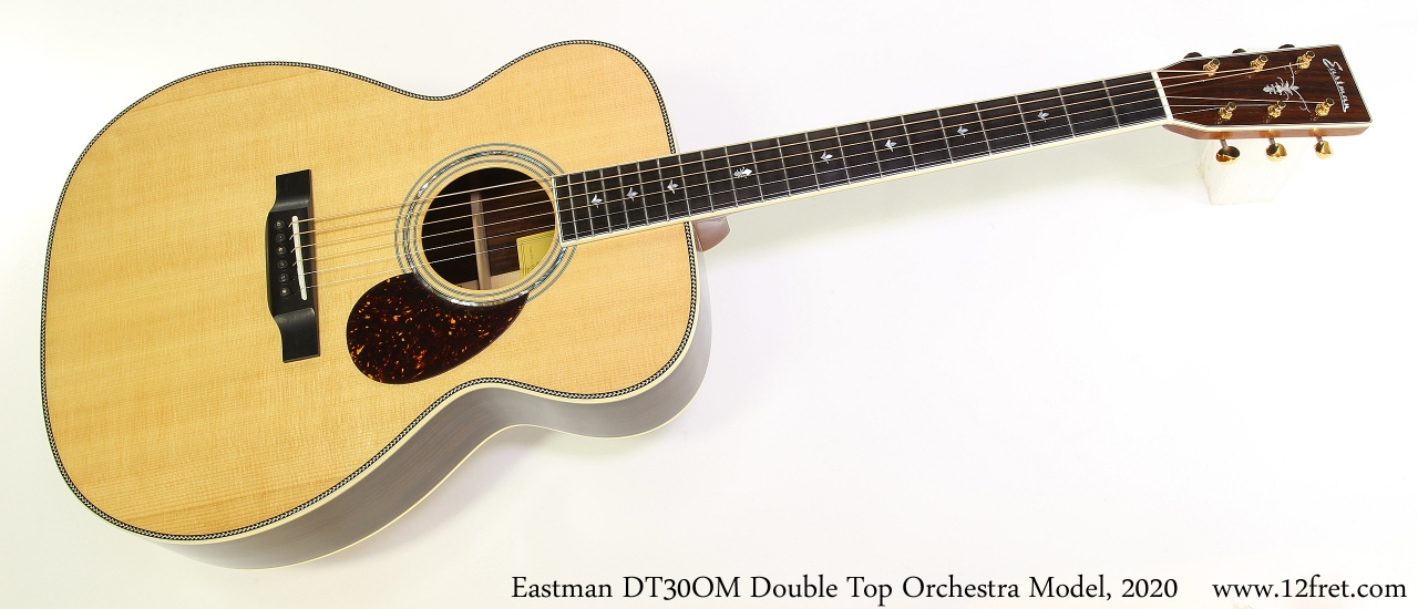 Eastman DT30OM Double Top Orchestra Model, 2020 Full Front View