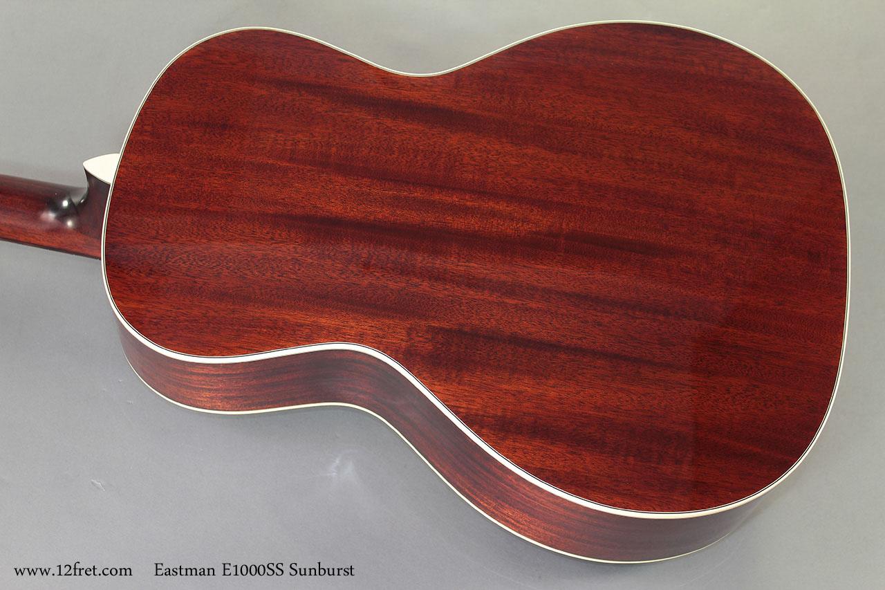 Eastman E1000SS Sunburst Steel String  back
