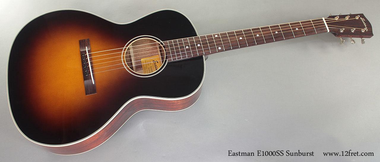 Eastman E1000SS Sunburst Steel String full front view