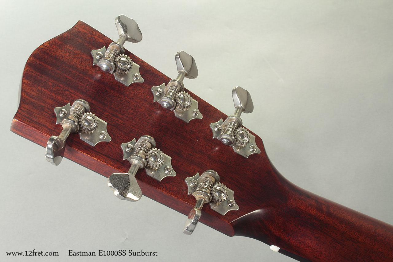 Eastman E1000SS Sunburst Steel String  head rear