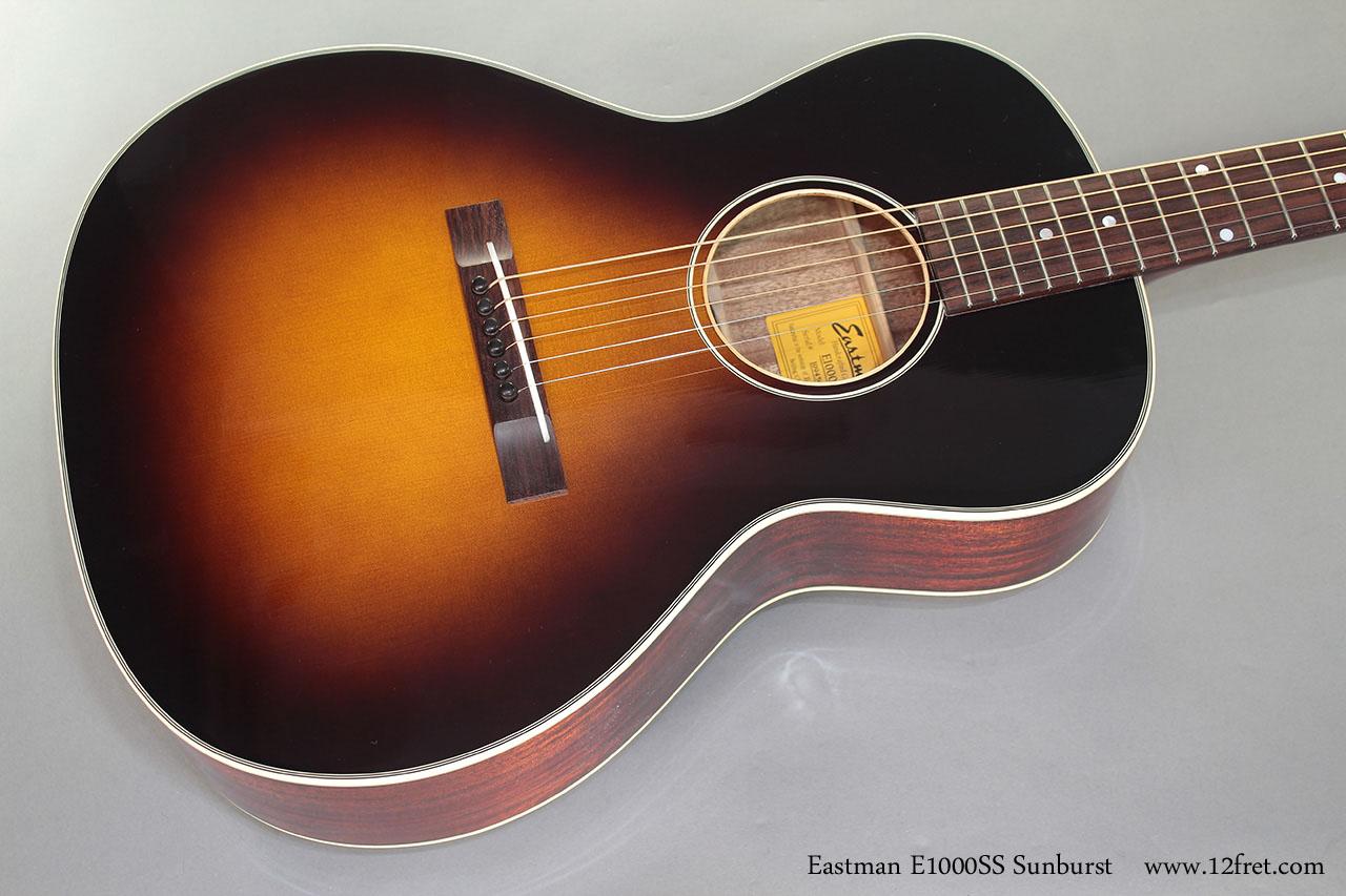 Eastman E1000SS Sunburst Steel String  top