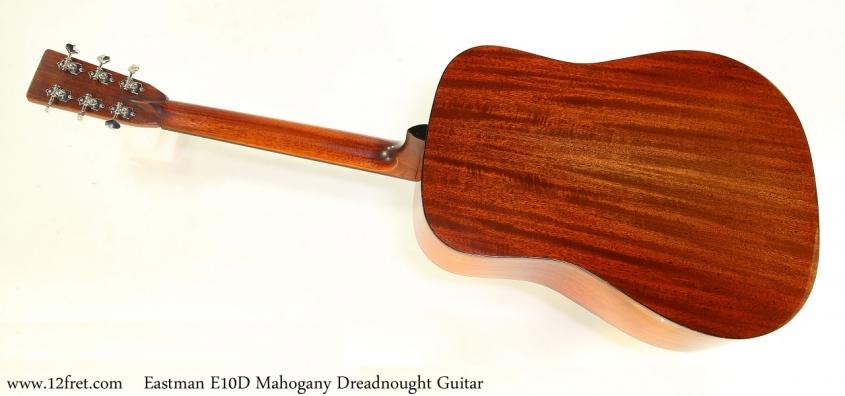 Eastman E10D Mahogany Dreadnought Guitar Full Rear View