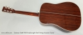 Eastman E40D-SB Dreadnought Steel String Acoustic Guitar Full Rear View