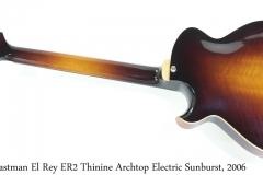 Eastman El Rey ER2 Thinine Archtop Electric Sunburst, 2006 Full Rear View