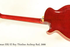 Eastman ER2 El Rey Thinline Archtop Red, 2006 Full Rear View