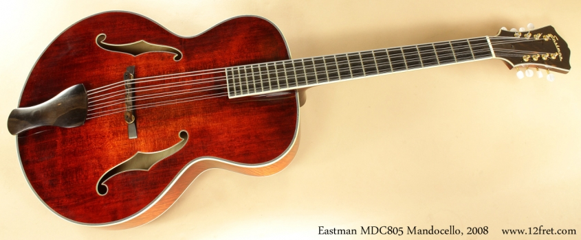 Eastman MDC805 Mandocello, 2008 full front view