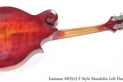 Eastman MD515 F-Style Mandolin Left Handed Full Rear View