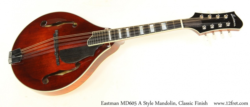 Eastman MD605 A Style Mandolin, Classic Finish Full Front View