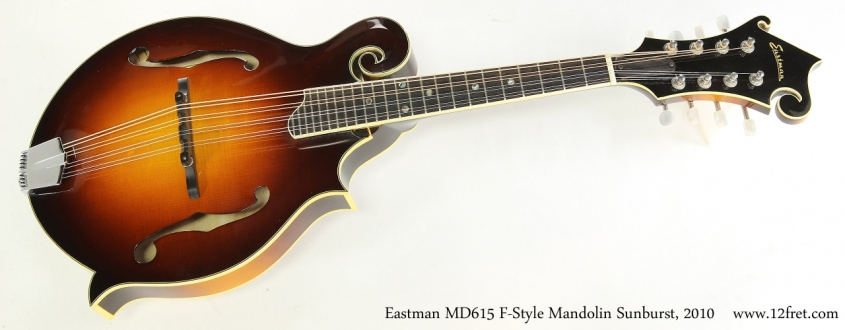 Eastman MD615 F-Style Mandolin Sunburst, 2010    Full Front View