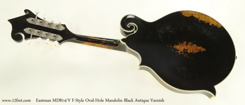 Eastman MD814/V F-Style Oval-Hole Mandolin Black Antique Varnish  Full Rear View