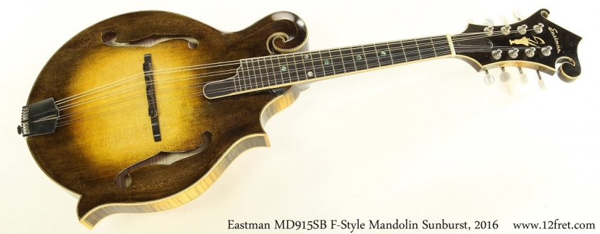 Eastman MD915SB F-Style Mandolin Sunburst, 2016 Full Front View
