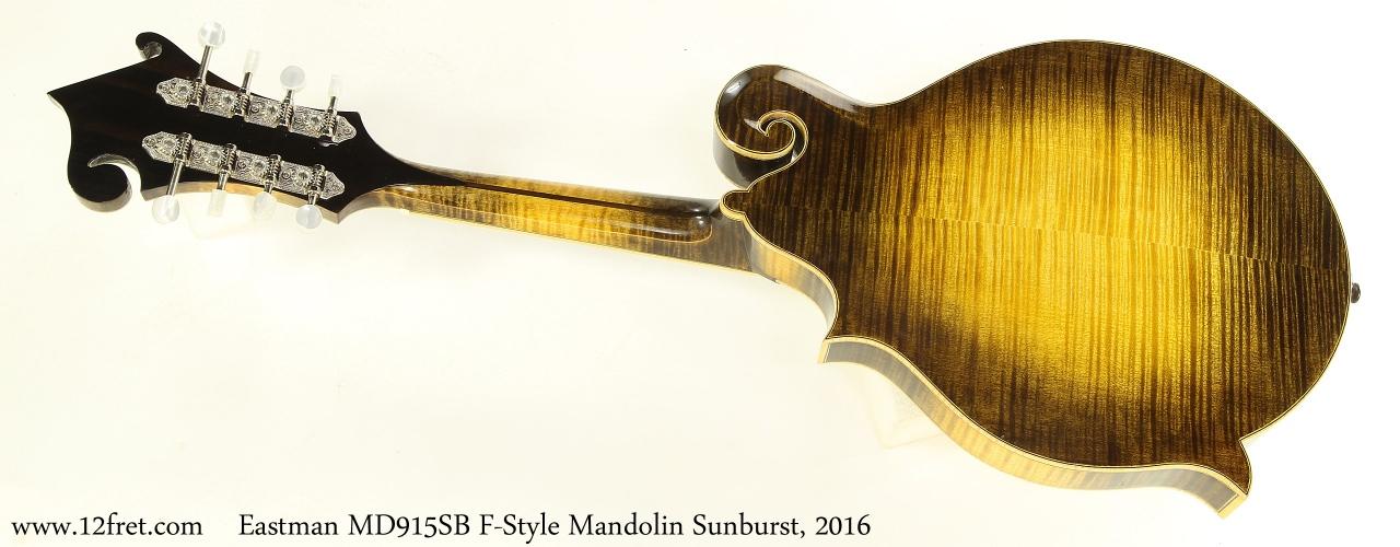 Eastman MD915SB F-Style Mandolin Sunburst, 2016 Full Rear View