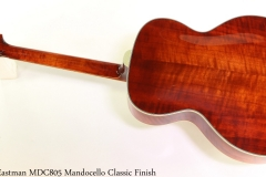 Eastman MDC805 Mandocello Classic Finish Full Rear View