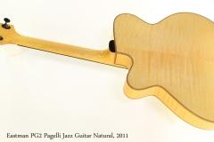 Eastman PG2 Pagelli Jazz Guitar Natural, 2011 Full Rear View