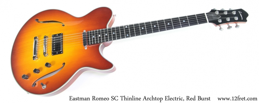 Eastman Romeo SC Thinline Archtop Electric, Red Burst Full Front View