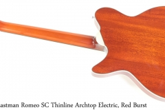 Eastman Romeo SC Thinline Archtop Electric, Red Burst Full Rear View