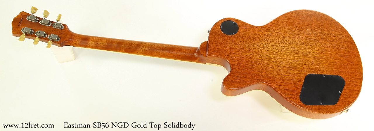 Eastman SB56 NGD Gold Top Solidbody Full Rear View