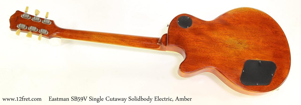 Eastman SB59V Single Cutaway Solidbody Electric, Amber Full Rear View