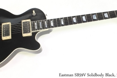 Eastman SB59V Solidbody Black, 2020 Full Front View