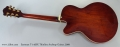 Eastman T-145SX Thinline Archtop Guitar, 2009 Full Rear View