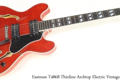 Eastman T486B Thinline Archtop Electric Vintage Red Full Front View