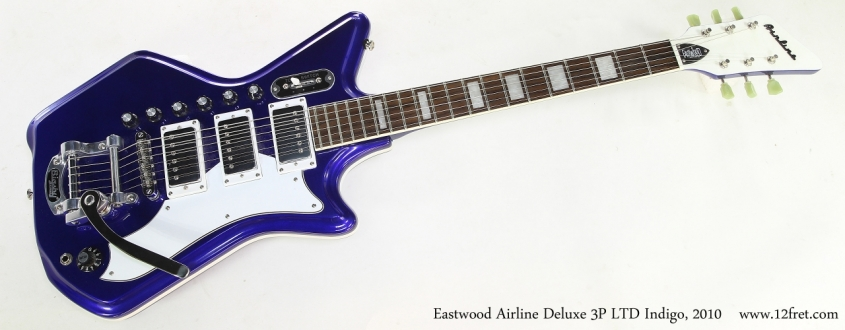 Eastwood Airline Deluxe 3P LTD Indigo, 2010   Full Front View