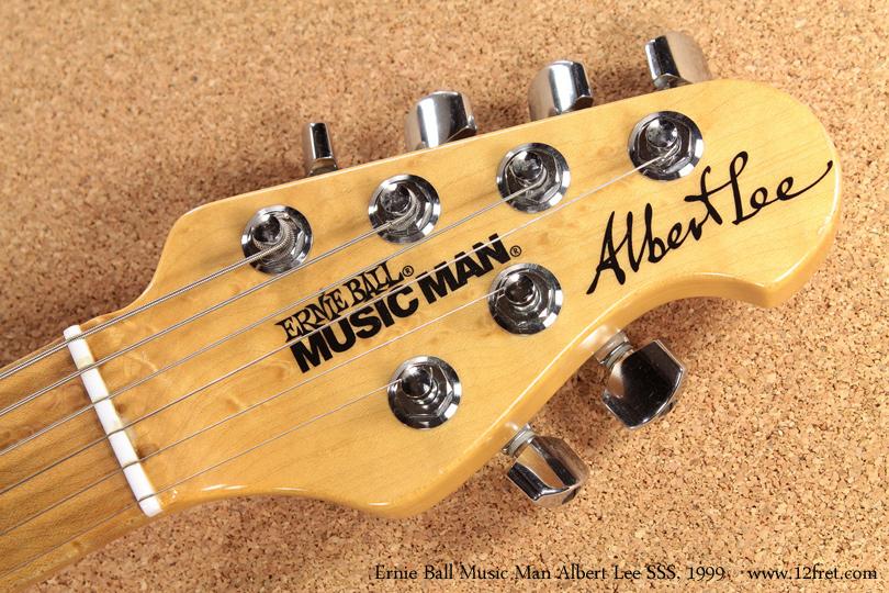 Ernie Ball Music Man Albert Lee SSS 1999 head front
