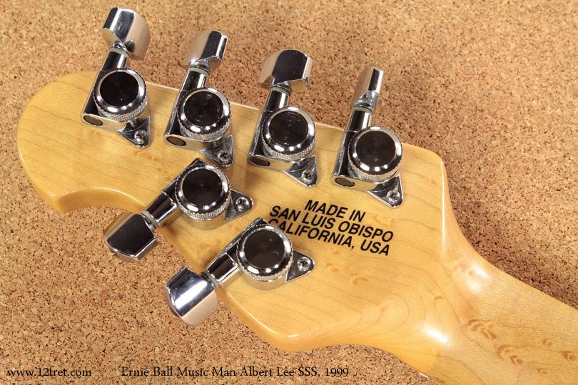 Ernie Ball Music Man Albert Lee SSS 1999 head rear