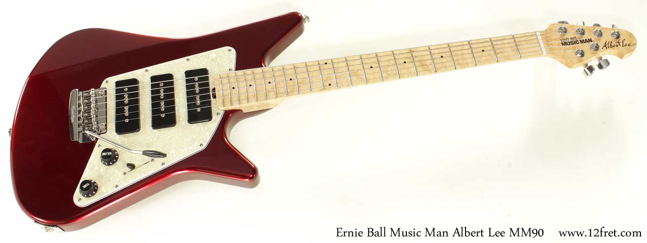 Ernie Ball Music Man Albert Lee MM90 Candy Red full front view