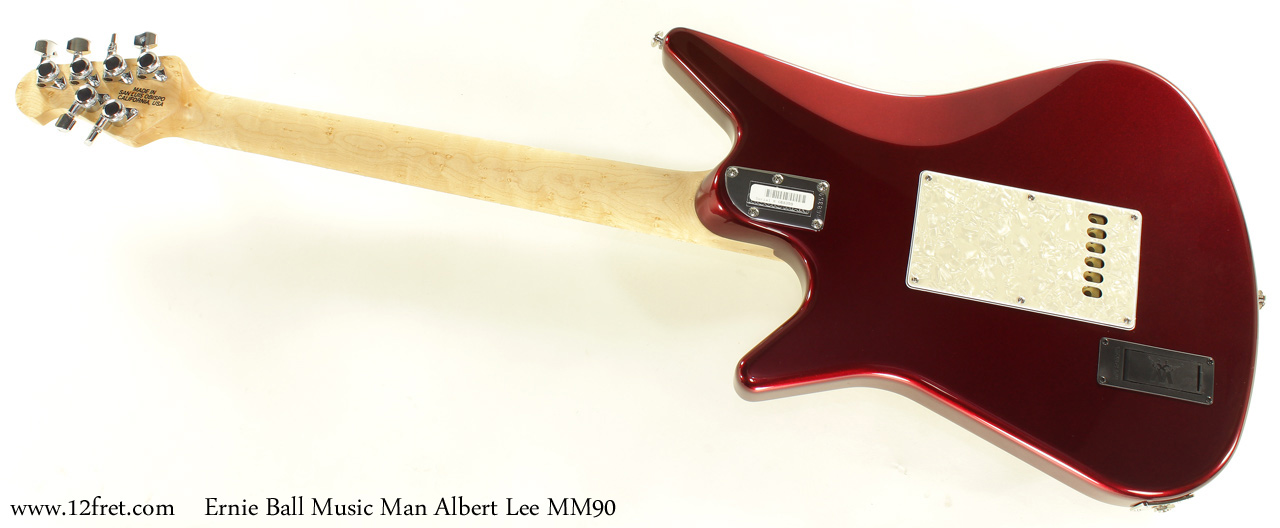 Ernie Ball Music Man Albert Lee MM90 Candy Red  full rear view