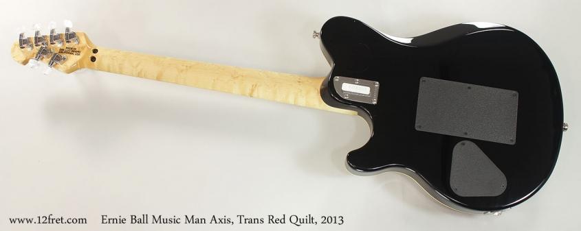 Ernie Ball Music Man Axis, Trans Red Quilt, 2013 Full Rear View