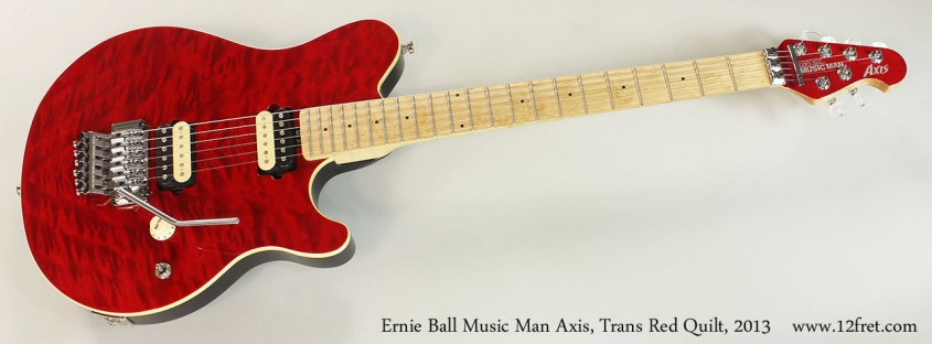 Ernie Ball Music Man Axis, Trans Red Quilt, 2013 Full Front View