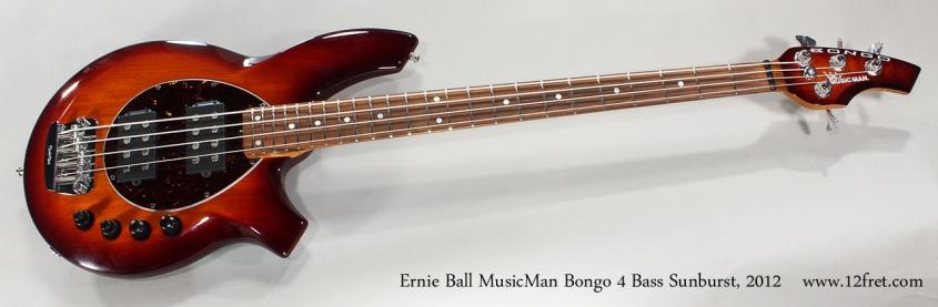 Ernie Ball MusicMan Bongo 4 Bass Sunburst, 2012 Full Front View
