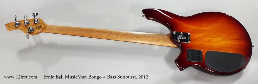 Ernie Ball MusicMan Bongo 4 Bass Sunburst, 2012 Full Rear View