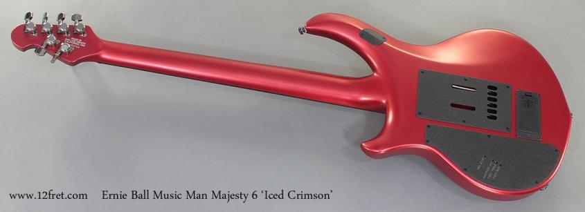 Ernie Ball Music Man Majesty 6 Iced Crimson full rear view