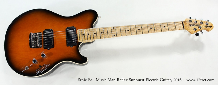 Ernie Ball Music Man Reflex Sunburst Electric Guitar, 2016 Full Front View